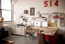 Creative Studios / Workplaces, workspaces, studios, offices, desks and the like. Inspirational board.
