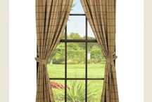 Pattern: Burlap Check / Burlap Check pattern brings out rustic country charm with a natural burlap look and large black check pattern, perfect for your primitive or country home decor. Coordinating window treatments are also available. / by Piper Classics
