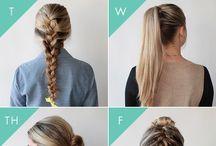 HAIR / Hair, hair and more hair. Up-dos, braids, curls and hair hacks.