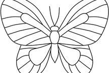 Steined glass butterfly
