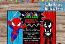 Fiesta 3 años Venom-Spiderman