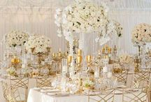 Tent: Gold Inspiration / Tents decorated with Gold accents.