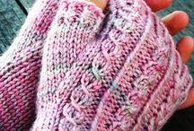 Luvas sem dedos em trico