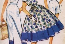 vintage style sewing patterns