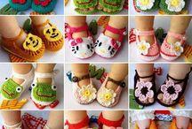 sapatos de crochê p.crianca