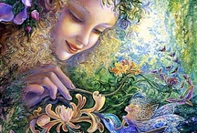 Josephine Wall / (Group Board) The English born artist Josephine Wall (who resides in an English south coast suburb of Poole, Dorset) specialises in mystical and fantasy paintings. She hopes to inspire her audience on a personal journey into the magical world of their own imagination. Feel free to pin your favourite pins of Josephine.... ♥