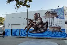 Fintan Magee / Sydeny-based artist #FintanMagee #streetart #mural www.fintanmagee.com/