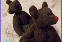 Bearci / Handmade bears from Fruzsina Seres.