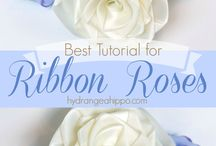 Ribbon rose for hair