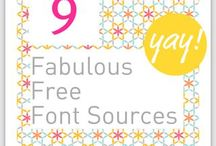 fonts / by Katharine Randall