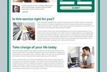 credit repair landing page design