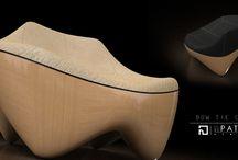 Bow tie chair / Armchair design by n patrat studio