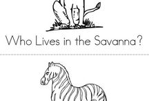 The Savanna mini books, coloring pages, and worksheets