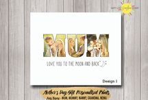 Mother's Day Personalised Wall Print