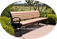 Awesome Park Benches / Amazing, stylish, beautiful outdoor & indoor use benches that are all made from recycled plastic.  Check out all our pins at American Recycled Plastic or visit us online at www.itsrecycled.com  #benches #outdoorfurniture #patiofurniture #buyrecycled #recycled plastic #family business