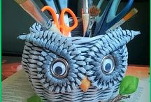 papierowa wiklina koszyczki