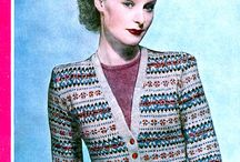 Peggy Chester - 40s knitting pattern model / These patterns are all from UK in 1940s.