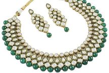 Latest Indian Bollywood Designer Wedding Party Jewelry Necklace Set