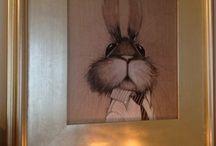 Children's wall art / Rabbit art / by Olga Sugden