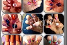 Multi nail designs / All free hand designs