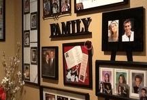 Family photo wall displays
