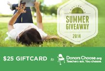 Teachability DonorsChoose Summer Giveaway / We're giving away $25 DonorsChoose Gift Cards with a winner every week. Enter here: http://bit.ly/1uD9WvK