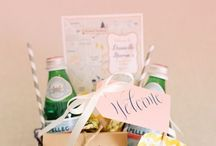 Hotel Welcome Bags / Welcome your event attendees with thoughtful, personalized gift bag.  This is not just for wedding guests, anymore.