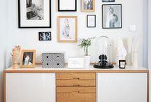 Obrazky na stěně