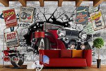 Restaurant KTV Club Bar Coffee Shop wall murals wallpaper