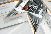 Kitchen Accessories / We only use high quality German Hardware & fitting for all our Kitchens. All our kitchens are standard and equipped  with Hettich & Grass German hardware & fittings.