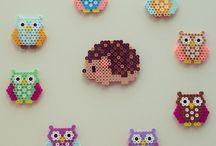 Perler beads owl
