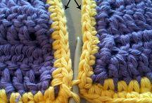 Granny Square Blanket Joins / Joining techniques for the 2016 HodgePodge Crochet Afghan Sampler CAL / by Tanya Naser