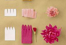 krepovy papier Papierové kvety