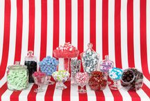 Party Sweets / Candy bars and candy jars