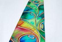 Unique silk ties / Unique silk ties , hand painted .