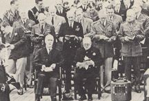 Churchill, Eisenhower, Roosevelt, Mckenzie King / Au cours de la guerre de 39-45, les Chefs d'État se sont réunis en la Capitale nationale du Québec à Québec