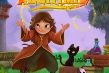 Alchimie / Jeu de puzzle où vous transformez des Champignons en Or!