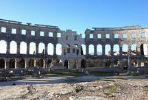 Pula - Kroatien - Istrien / In Pula in Istrien findet man unzählige Überbleibsel aus der Römerzeit. Das wohl bekannteste ist das berühmte Amphtheater.