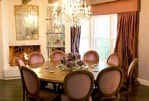 Lavender and Gray Dining Room