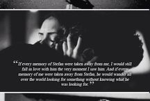 Stelena my OTP / Favourite Stelena quotes. Though the show ruined their perfect relationship, you gotta stick to books, cus well, it's always gonna be Stelena.