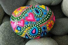 Beschilderde stenen -