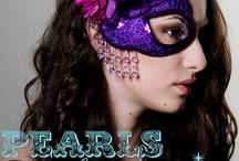 Costume Inspiration! / Dark/Tim Burton Sparkle Sexy Mixing patterns/textures  collar/cape, bra top, waist cincher, panty, skirt / by Jillian Robbins