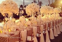 Beach Wedding Ideas / From the Hamptons to Hawaii we love any occasion to kick off our shoes and romp in the sand. Have your decor reflect local elements.