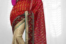 Banarasi Jacquard & Cotton Sarees / Beautiful banarasi jacquard and cotton sarees designed with patchwork