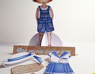 old school paper doll / by Little Curly (the eco-friendly girl)