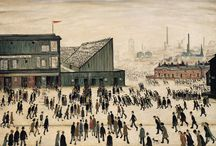 Year 5 Figurative art topic / Image example of figurative art by Lowry