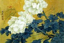 Пионы Китай Peony in Chinese painting