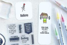 Bookmarks and Dashboards / Fun bookmarks and planner dashboards featuring Sweet Stamp Shop