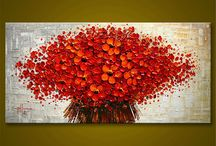 Red Flowers Paintings