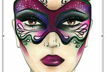 Carnaval make-up idee